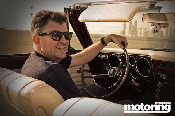 Todd Stermer with his 1965 Chevrolet Corvair in Dubai, UAE