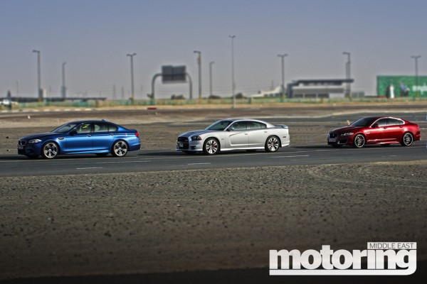 BMW M5, Dodger Charger SRT8, Jaguar XFR