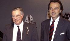 Sergio Pininfarina and Luca di Montezemolo