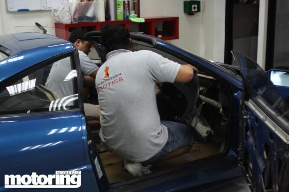 Noel Ebdon's Ferrari 348 TB restoration project car