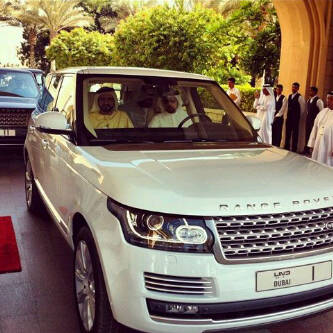 H.H. Sheikh Mohammed Bin Rashid Al Maktoum First Customer in the World to Receive Delivery of All New Range Rover