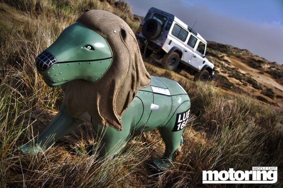 Based on a Series 1 Land Rover, Luey the Lion represents the marque's global conversation support