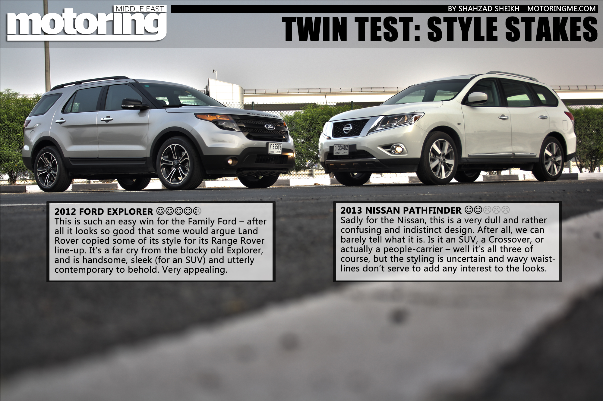 Twin Test 2013 Nissan Pathfinder Vs 2012 Ford Explorer Motoring Sport