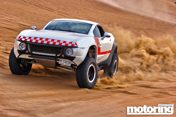 Rally Fighter tested in the desert in Dubai