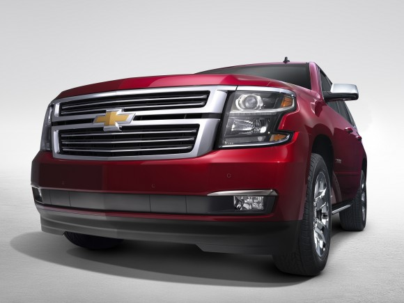 2015 Chevrolet Tahoe in Crystal Claret grill view from New York