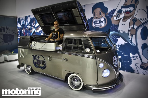 Volkswagen Camper Van Bus converted to DJ Booth Lola