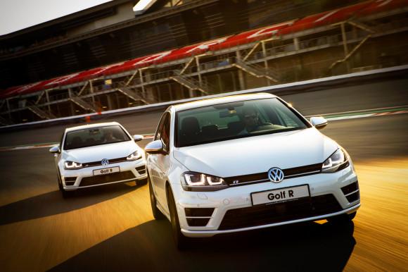 2014 Volkswagen Golf R launch at Dubai Autodrome