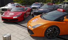 Dubai Supercar Taxis at the Dubai Motoring Festival 2014