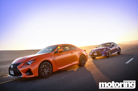 Lexus RC F and RC350 F-Sport