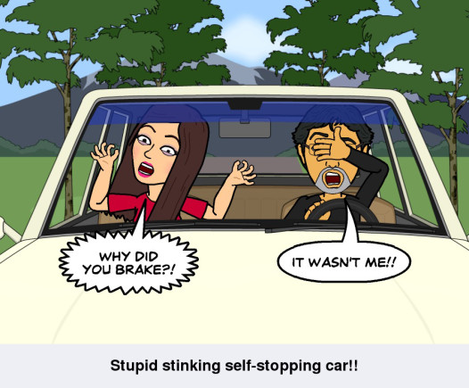 Self-stopping cars Give me back control – I'll decide when to brake!