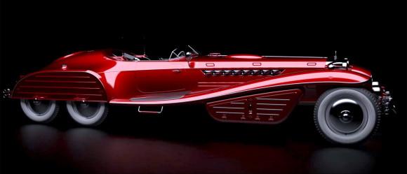 Halloween cars Red Skulls car