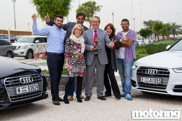 Audi S6 and S7 win 'Steal Fighter Award' in 2015 Motoring Middle East Car of the Year Awards