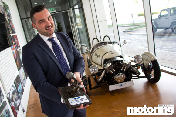 Morgan 3 Wheeler wins Mad Hatter award in 2015 Motoring Middle East Car of the Year Awards