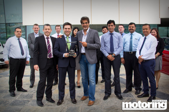 Volvo XC90 wins the 'Clever Clogs Award' in the 2015 Motoring Middle East Car of the Year Awards