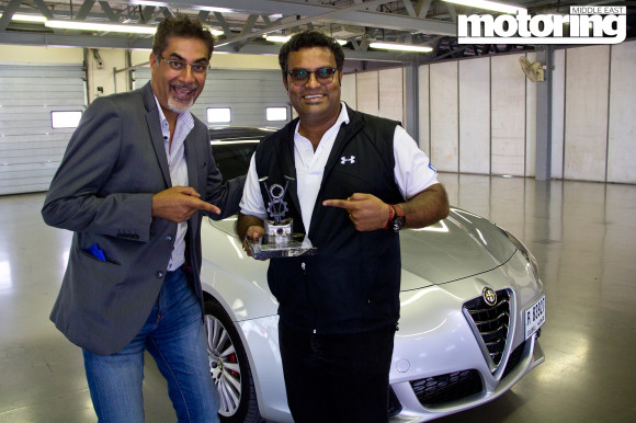 Alfa Romeo Giulietta QV wins 'The Ciao Bella Award' in Motoring Middle East Car of the Year Awards