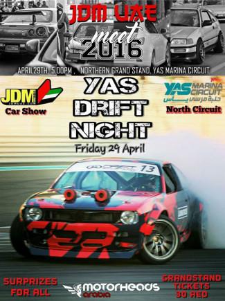 Yas Drift Night and JDM meet