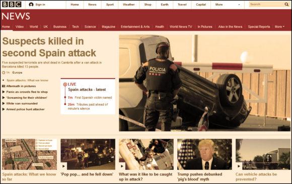 BBC Spain attack news