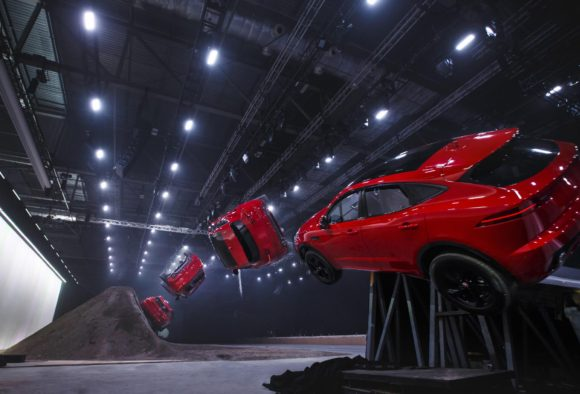 Jaguar put on their own shows and perform headline-grabbing stunts to launch their cars