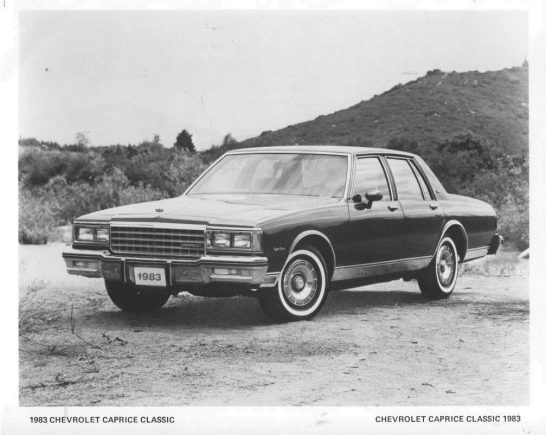 1983-Chevrolet-Caprice-Classic-ORIGINAL-Factory-Photo-oub6042